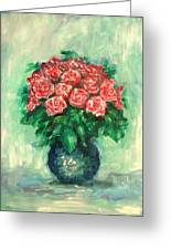 Roses Oil Painting  Greeting Card