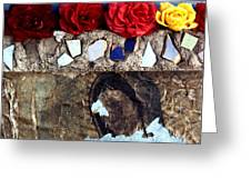 Roses On A Shrine Greeting Card