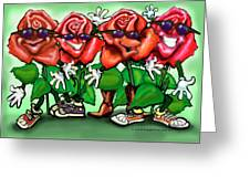 Roses Party Greeting Card