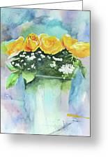 Roses Row Greeting Card