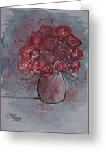 Roses Still Life Watercolor Floral Painting Poster Print Greeting Card