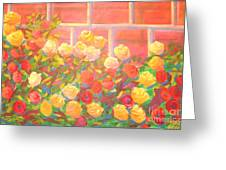 Roses The Gift Of Lovers. Greeting Card