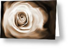 Rose's Whisper Sepia Greeting Card