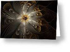 Rosette In Gold And Silver Greeting Card