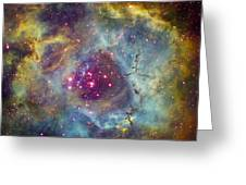 Rosette Nebula Ngc 2244 In Monoceros Greeting Card