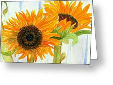Rosezella's Sunflowers Greeting Card