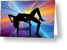 Rosie Nude Fine Art Print In Sensual Sexy Color 4689.02 Greeting Card