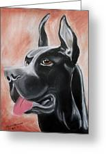 Rosie The Great Dane Greeting Card
