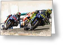 Rossi Leading The Pack Greeting Card