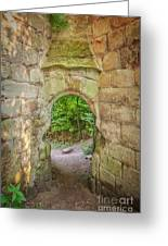 Rosslyn Castle Forest Entry Greeting Card