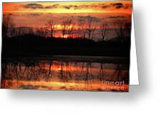 Rosy Mist Sunrise Greeting Card