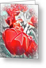 Rosy Swirl Greeting Card