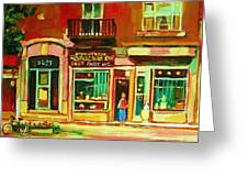 Rothchilds Jewellers On Park Avenue Greeting Card