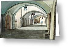 Rothenburg Backstreet Greeting Card