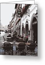 Rothenburg Cafe - Digital Greeting Card