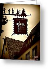 Rothenburg Hotel Sign - Digital Greeting Card