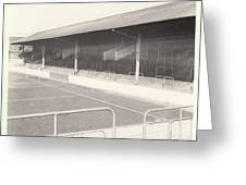 Rotherham - Millmoor - Railway End 1 - Bw - April 1970 Greeting Card