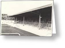 Rotherham - Millmoor - Railway End 2 - Bw - April 1970 Greeting Card