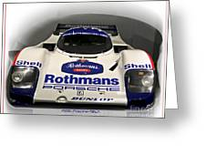 Rothmans Porche Greeting Card