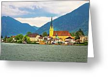 Rottach Egern On Tegernsee Architecture And Nature View Greeting Card