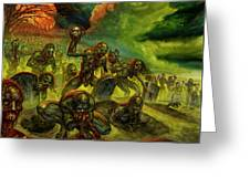 Rotten Souls Taint The Land Greeting Card