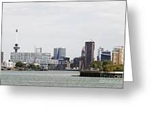 Rotterdam Skyline With Euromast  Greeting Card
