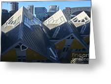 Rotterdam - The Cube Houses And Skyline Greeting Card