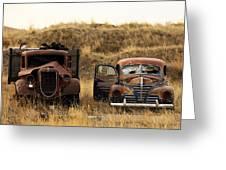 Rotting Jalopies Greeting Card