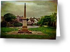 Rottingdean War Memorial And Village Common Greeting Card