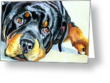 Rottweiler Greeting Card by Lyn Cook