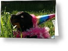 Rottweiler Princess Greeting Card