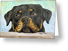 Rottweiler's Sweet Face 2 Greeting Card
