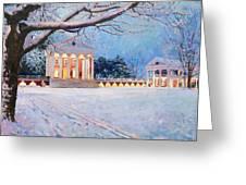 Rotunda On A Snowy Night Greeting Card