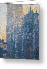 Rouen Cathedral, The Portal, Morning Greeting Card