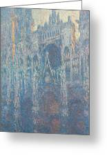 Rouen Cathedral, The Portal, Morning Light Greeting Card