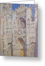 Rouen Cathedral, The Portal, Sunlight Greeting Card