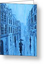 Rouen In The Rain Greeting Card