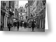 Rouen Street Greeting Card
