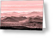 Rouge Hills Of The Tonto Greeting Card