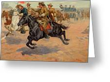 Rough Riders Cavalry Greeting Card