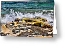 Rough Seas At Blowing Rock Greeting Card