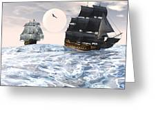 Rough Seas Greeting Card by Claude McCoy