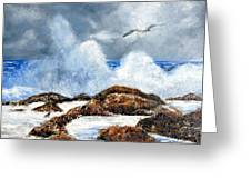 Rough Surf In Nj Greeting Card