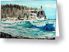 Rough Water At Split Rock Greeting Card