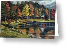 Round Pond Newbury Vermont Plein Air Greeting Card