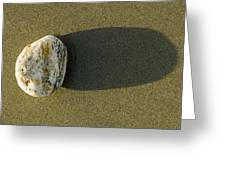 Round Rock And Shadow On Sand Dollar Greeting Card