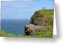 Round Stone Tower Refferred To As O'brien's Tower In Ireland Greeting Card
