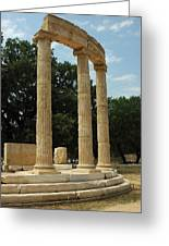 Round Temple At Olympia Greeting Card