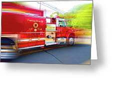 Round Top Vol. Fire Co. Inc. New York 7 Greeting Card