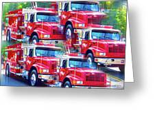 Round Top Vol. Fire Co. Inc. New York 8 Greeting Card